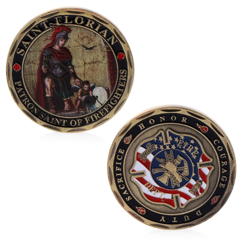Firefighter Commemorative Coin - Kangaroo Buddy