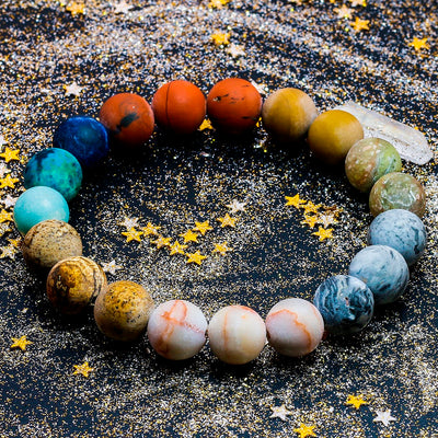 Solar Space Universe (Natural Stone Beads Bracelet)