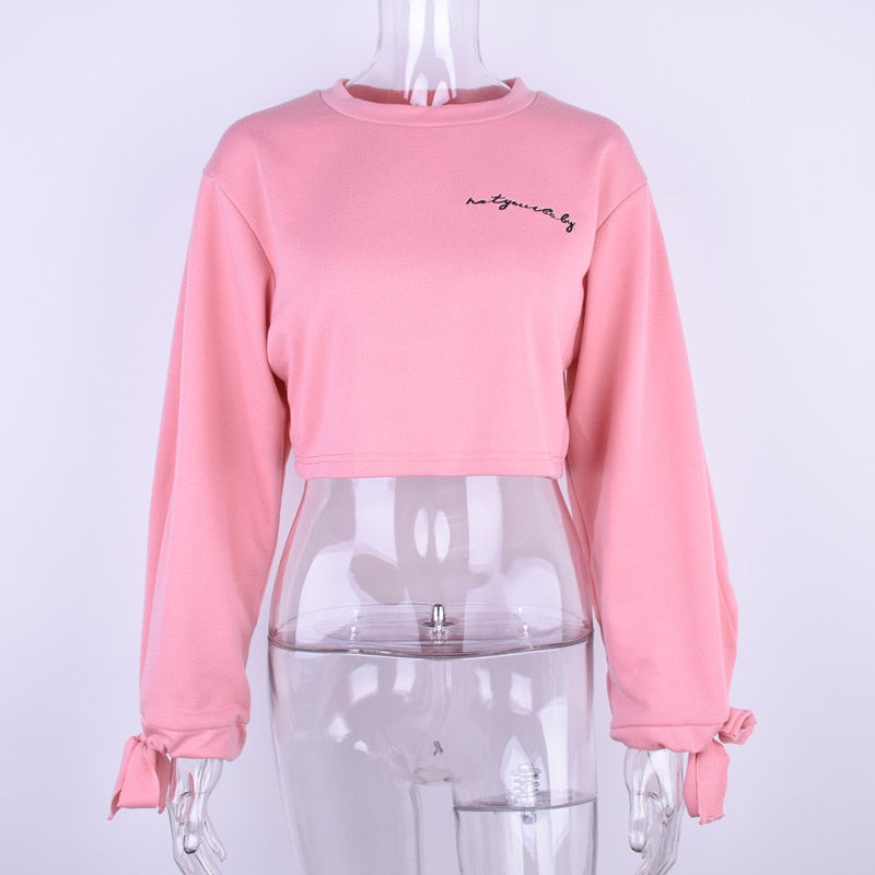 Oversize Crop Top Sweatshirt - Kangaroo Buddy