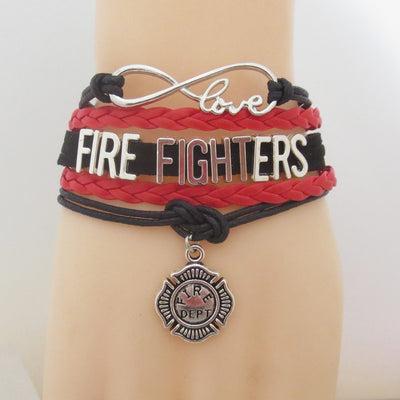 Infinity Love Firefighter Bracelet