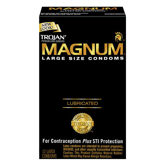 Trojan Magnum Large x 12 Condoms - Adult sex toys direct