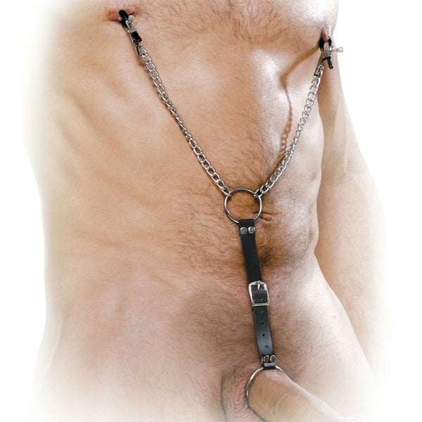 Fetish Fantasy Series Nipple Clamps And Cockring Set - Adult sex toys direct