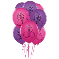 8 Pecker Party Balloons - Adult sex toys direct