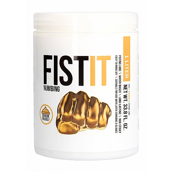 Fist It Numbing 1 Liter Anal Lubricant - Adult sex toys direct
