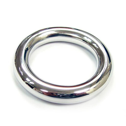 Rouge Stainless Steel Round Cock Ring 40mm - Adult sex toys direct