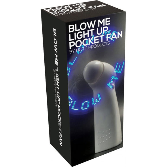 Blow Me Light Up Pocket Fan White - Adult sex toys direct