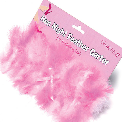 Hen Night Feather Garter - Adult sex toys direct