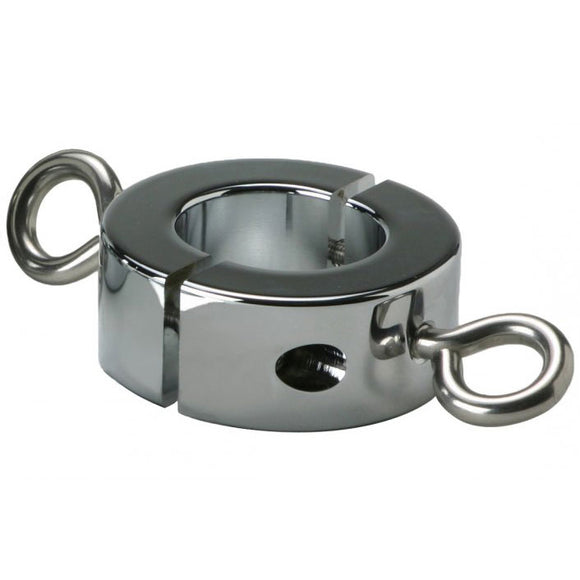 Ball Stretcher Cockring With Hooks 16oz - Adult sex toys direct