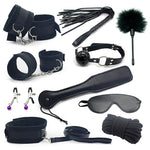 Erotic Toy 10pce/ Set sexy toys Adult Games sex Bondage Restraint,Handcuffs Nipple Clamp Whip Collar  sex toys for couples - Adult sex toys direct