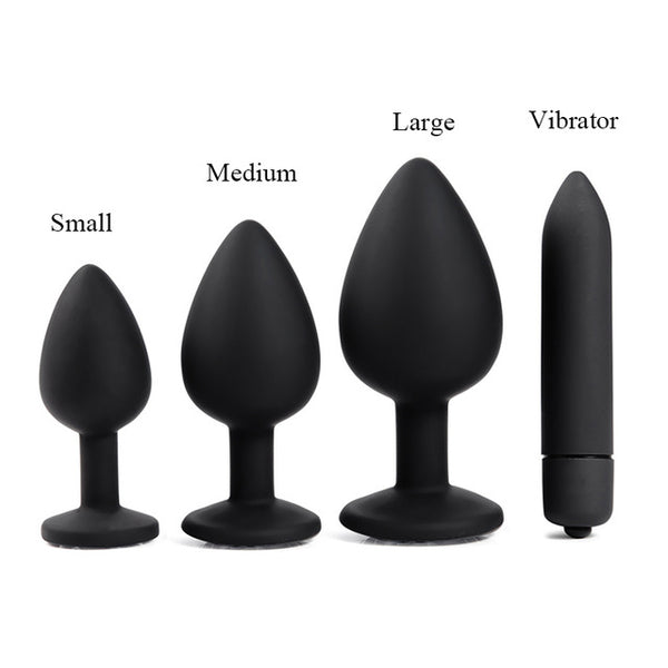 Adult Diary Silicone Anal Plug Jewelry Dildo Vibrator Sex Toys for Woman Prostate Massager Bullet Vibrador Butt Plug For Men Gay - Adult sex toys direct