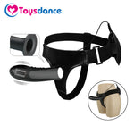 Silicone Strap On Harness Vibrator For Couples Hollow Design