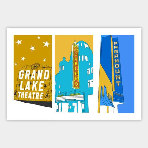Three Theaters of Oakland Print - Oakland Museum of California Store