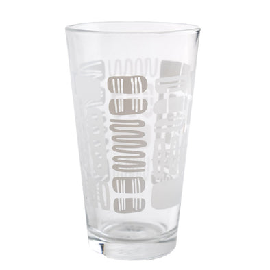 Mambo Design White and Etched Glasses