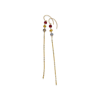 Delisch Multi Colored Sapphire Long Earrings