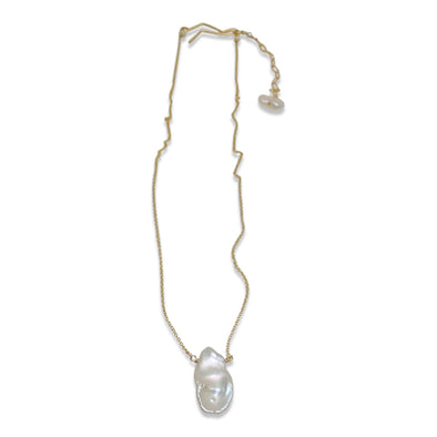 Delisch Ivory Keshi Pearl Drop Necklace