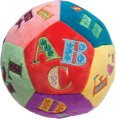 Alphabet Soft Plush Ball Rattle