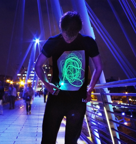 Glow in the  Dark Interactive T-Shirt - Adults