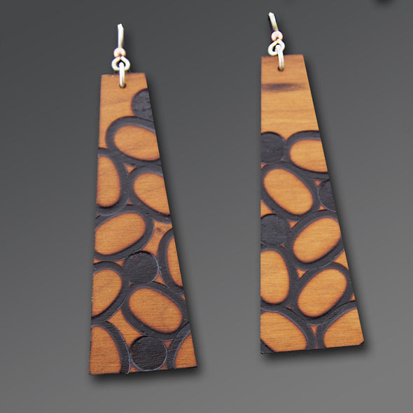 Wood-Burned Earrings - Oakland Museum of California Store