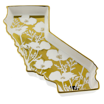 California Gold Poppy Trinket Tray - Oakland Museum of California Store