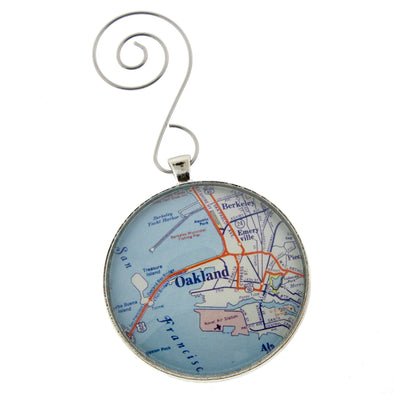 Oakland Vintage Map Ornament