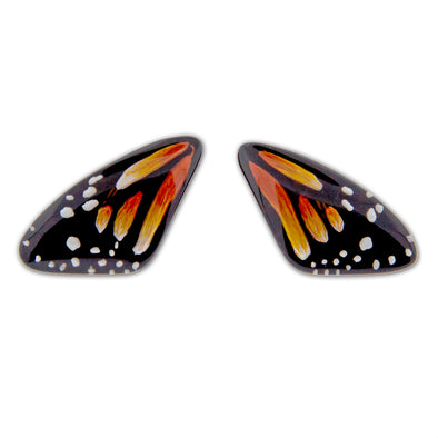 Resin Monarch Butterfly Wing Earrings