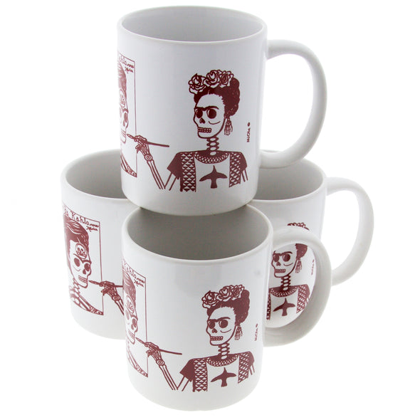 Frida Kahlo Skeleton Mug