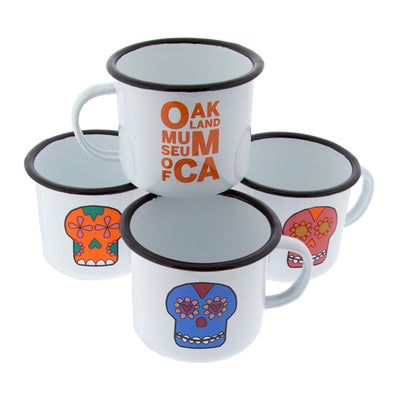 OMCA Logo Days of the Dead Enamel Mug - Oakland Museum of California Store