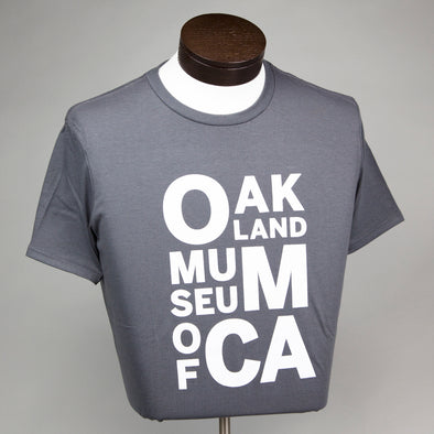 OMCA Logo Crew Neck Shirt - Gray - Oakland Museum of California Store