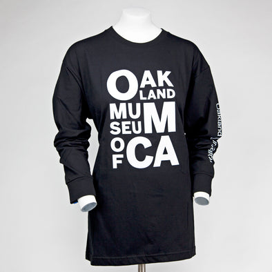 OMCA Logo Long-sleeved Shirt with Sleeve Imprint - Oakland Museum of California Store