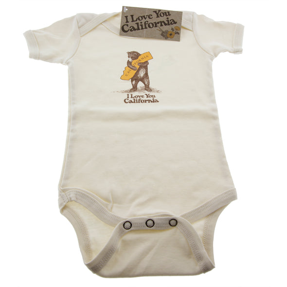 California Bear Hug 100% Organic Cotton Onesie - Oakland Museum of California Store