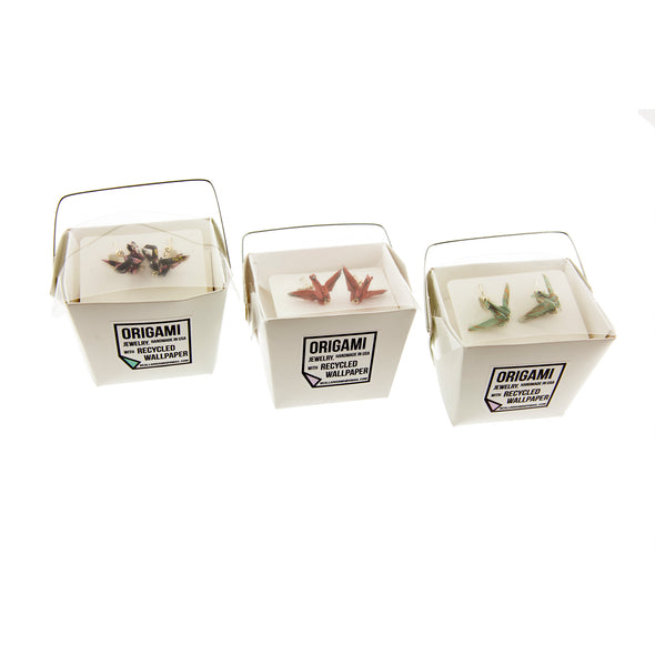 Origami Crane Earrings - Oakland Museum of California Store