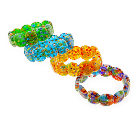 Floral Glass Bead Bracelet - Oakland Museum of California Store