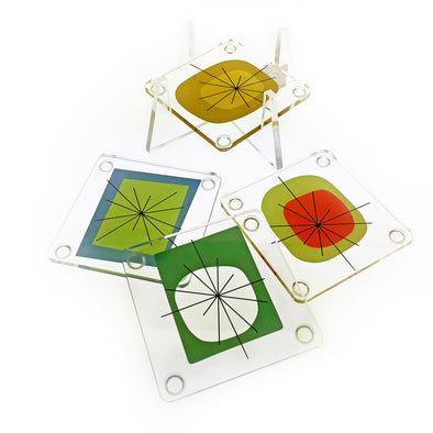 Atomic Design Acrylic Coaster Set - Oakland Museum of California Store