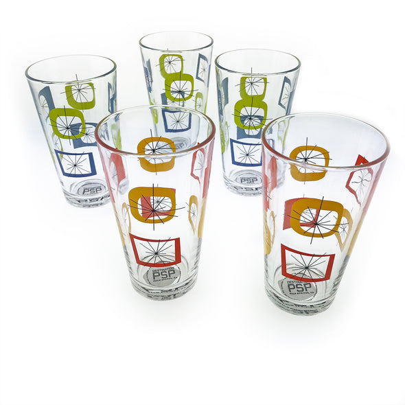 Atomic Design Pint Glass - Oakland Museum of California Store