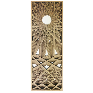 Laser Wood Cut - Grain Under Sun