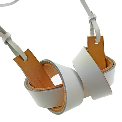Leather Necklace - White