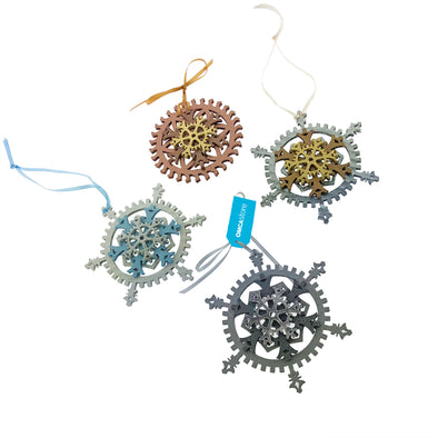 Snowflake Gear Ornaments