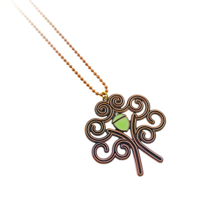 Oakland Tree & Burning Man Stylized Pendant