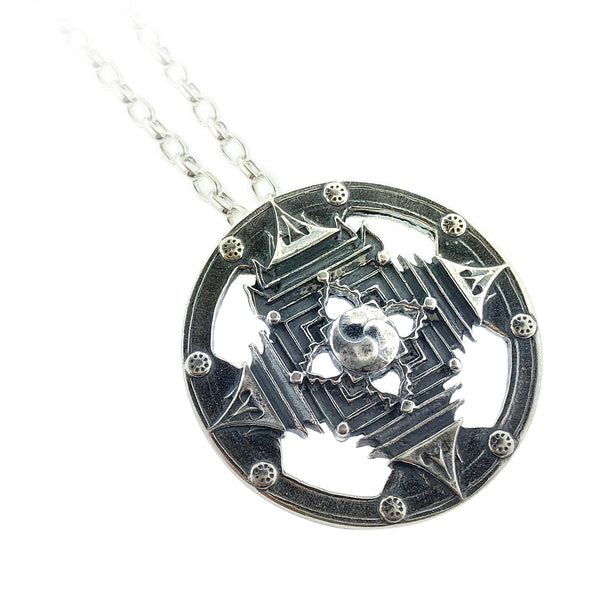 Steel Love Design Burning Man Necklaces