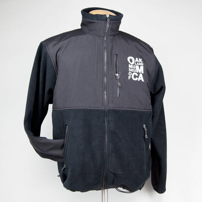 OMCA Black Fleece Logo Jacket - Oakland Museum of California Store