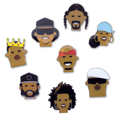 Hip-Hop Artist Enamel Pins - Oakland Museum of California Store