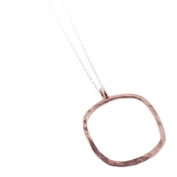 Rose Gold Square Ring Pendant Necklace - Oakland Museum of California Store