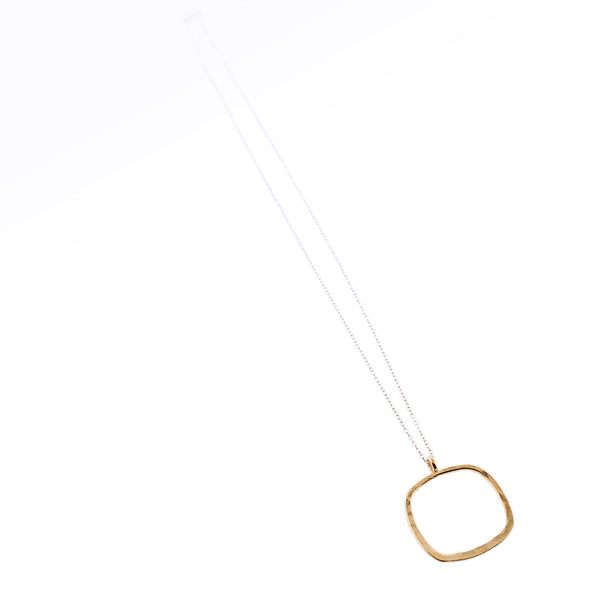 Gold Square Ring Pendant Necklace - Oakland Museum of California Store
