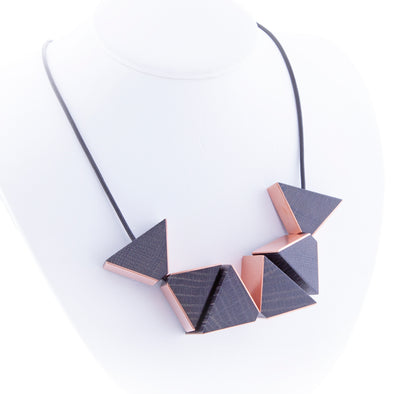 Nevelson Prism Necklace in Copper - Oakland Museum of California Store