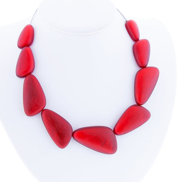 Triangular Resin Over Capiz Shell Necklace - Oakland Museum of California Store