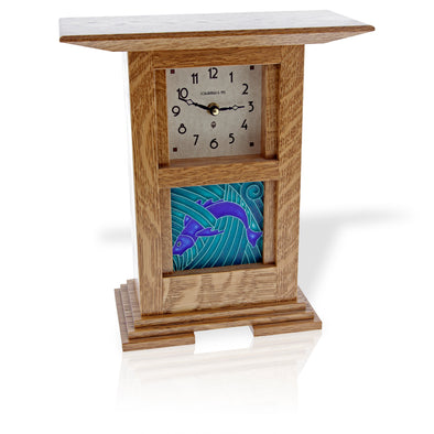 Prairie Style Tile Clock - Oakland Museum of California Store