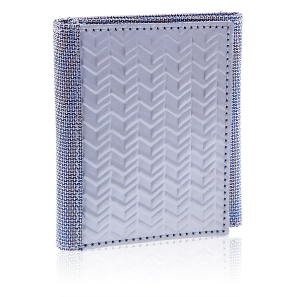 Wallet Tri-Fold w/ID Herringbone - Oakland Museum of California Store