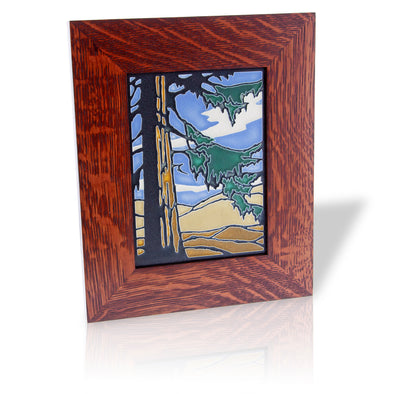 Motawi Redwood Tile, Framed - Oakland Museum of California Store