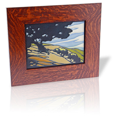 Motawi California Oak Tile, Framed - Oakland Museum of California Store