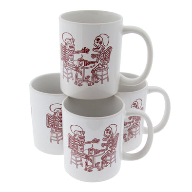 Skeleton Coffee Drinkers Mug - Oakland Museum of California Store